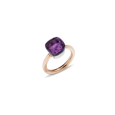 Ring Nudo Classic - Rose Gold 18kt, White Gold 18kt, Amethyst