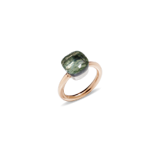 Ring Nudo Classic - Rose Gold 18kt, White Gold 18kt, Prasiolite