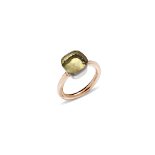 Ring Nudo Classic - Rose Gold 18kt, White Gold 18kt, Lemon Quartz