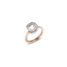 Ring Nudo Classic - Rose Gold 18kt, White Gold 18kt, White Topaz