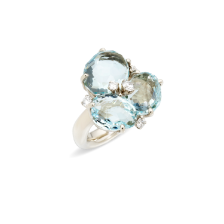 Ring Bahia - White Gold 18kt, Aquamarine, Diamond