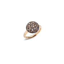Bague Sabbia - Or Rose 18kt, Diamant Brun