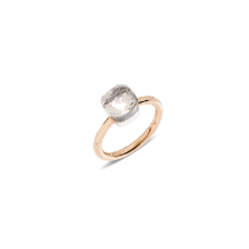 Ring Nudo Petit - Rose Gold 18kt, White Gold 18kt, White Topaz