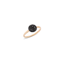 Ring Sabbia - Rose Gold 18kt, Treated Black Diamond