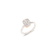 Ring Nudo Solitaire - Rose Gold 18kt, White Gold 18kt, Diamond