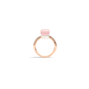 Rose Quartz Nudo Petit Ring