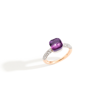 Nudo Petit Ring - Rose Gold 18kt, White Gold 18kt, Amethyst, Diamond
