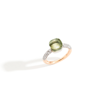 Nudo Petit Ring - Rose Gold 18kt, White Gold 18kt, Prasiolite, Diamond