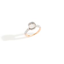 Nudo Petit Ring - Rose Gold 18kt, White Gold 18kt, White Topaz, Diamond