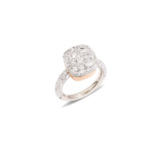 Ring Nudo Solitaire - White Gold 18kt, Rose Gold 18kt, Diamond