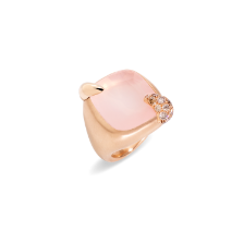 Ring Ritratto - Rose Gold 18kt, Rose Quartz, Brown Diamond