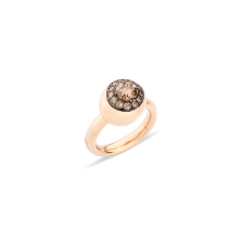 Nuvola Ring - Rose Gold 18kt, Brown Diamond