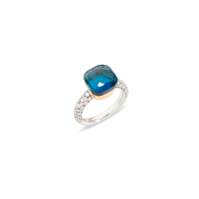Nudo Classic Ring - White Gold 18kt, Rose Gold 18kt, Blue London Topaz, Turquoise, Diamond