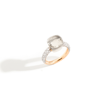 Ring Nudo Classic - Rose Gold 18kt, White Gold 18kt, White Topaz, Diamond