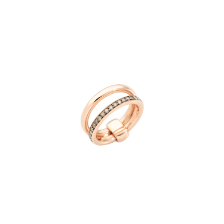 Bague Bandeau Iconica - Or Rose 18kt, Diamant Brun