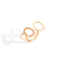 Brera Ring - Rose Gold 18kt, Brown Diamond