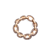 Catene Bracelet - Rose Gold 18kt, Brown Diamond