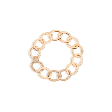 Brera Bracelet - Rose Gold 18kt, Brown Diamond