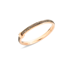 Iconica Bangle - Rose Gold 18kt, Brown Diamond