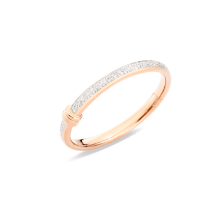 Iconica Bangle - Rose Gold 18kt, Diamond