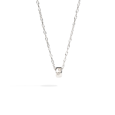 Pendant With Chain Iconica - White Gold 18kt, Diamond