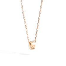 Pendant With Chain Iconica - Rose Gold 18kt, Diamond