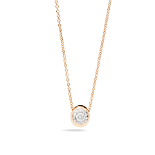 Pendant With Chain Nuvola - Rose Gold 18kt, Diamond