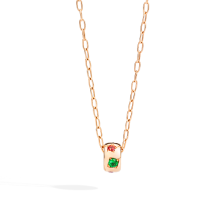 Iconica Colour Necklace With Pendant - Rose Gold 18kt, Orange Sapphire, Blue Sapphire, Pink Sapphire, Tsavorite, Spinel, Tanzanita