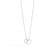 Brera Necklace With Pendant - White Gold 18kt, Diamond