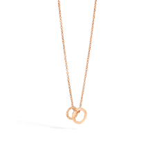 Collana Con Pendente Brera - Oro Rosa 18kt, Diamante Brown