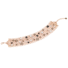 Collier Sabbia - Or Rose 18kt, Diamant, Diamant Brun, Diamant Noir Traité