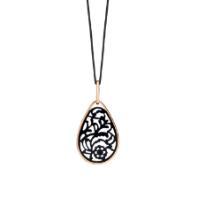 Pendant Without Chain Victoria - Rose Gold 18kt, Jet