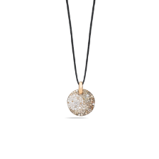 Pendant Without Chain Sabbia - Rose Gold 18kt, Diamond, Brown Diamond