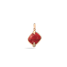 Pendant Without Chain Ritratto - Rose Gold 18kt, Jasper, Brown Diamond