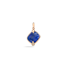 Pendant Without Chain Ritratto - Rose Gold 18kt, Lapis Lazuli, Brown Diamond