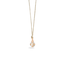 Pendant Without Chain M'Ama Non M'Ama - Rose Gold 18kt, Adularia, Diamond