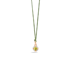 Pendant Without Chain M'Ama Non M'Ama - Rose Gold 18kt, Peridot, Diamond
