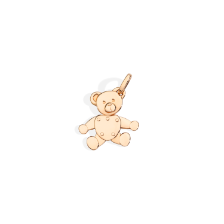 Pendant Without Chain Orsetto - Rose Gold 18kt