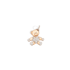 Pendant Without Chain Orsetto - Rose Gold 18kt, Diamond