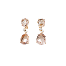 Earrings Bahia - Rose Gold 18kt, Morganite, Diamond