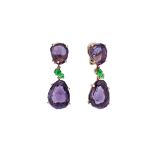 Earrings Bahia - Rose Gold 18kt, Amethyst