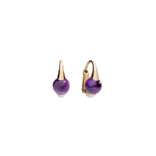 Earrings M'Ama Non M'Ama - Rose Gold 18kt, Amethyst