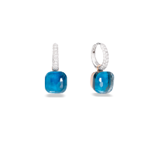 Nudo Classic Earrings - White Gold 18kt, Rose Gold 18kt, Blue London Topaz, Turquoise, Diamond