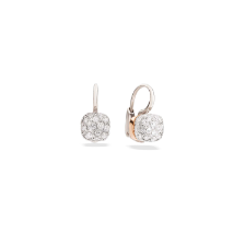 Earrings Nudo - White Gold 18kt, Diamond