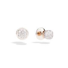 Earrings Nudo - Rose Gold 18kt, White Gold 18kt, Diamond