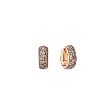 Iconica Bold Earrings - Rose Gold 18kt, Brown Diamond
