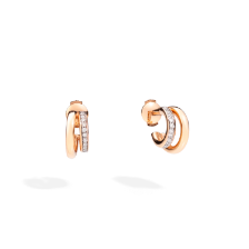 Earrings Iconica - Rose Gold 18kt, Diamond