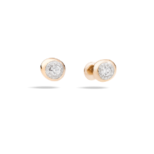 Earrings Nuvola - Rose Gold 18kt, Diamond