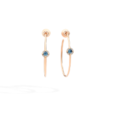 Earrings M'Ama Non M'Ama - Rose Gold 18kt, Blue Topaz, Diamond