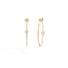 Earrings M'Ama Non M'Ama - Rose Gold 18kt, Diamond